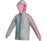 Adidas - Girl´s Reinvented Full Zip kids Sport apparel