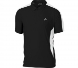 Head - Club Men Polo black/white Men tennis apparel
