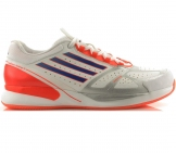 Adidas - Adizero Feather II Clay weiß/rot/blau - Herren Tennisschuh