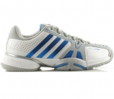 Adidas - Barricade 7.0 Junior white/silver/blue kids tennis shoe