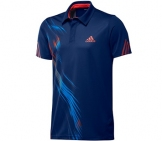 Adidas - Boys Adizero Polo blue/red - HW12 kids tennis apparel
