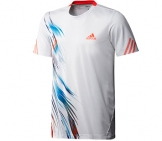 Adidas - Boys Adizero Tee white/red/blue - HW12 kids tennis apparel