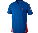 Adidas - Boys Response Tee - blue HW12 kids tennis apparel