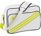 Adidas - Enamel 3-Stripes Small - white/yellow Adidas running gear Adidas