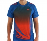 Adidas - Running Shirt Adizero S/S Tee blue/red Men running apparel