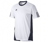 Adidas - Men Barricade Team Tee - white/blue Men tennis apparel