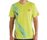 Adidas - Men Adizero Crew Tee lime - HW12 Men tennis apparel