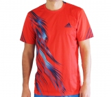 Adidas - Men Adizero Crew Tee red - HW12 Men tennis apparel