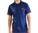 Adidas - Men Adizero Theme Polo blue - HW12 Men tennis apparel