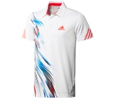 Adidas - Men Adizero Theme Polo white - HW12 Men tennis apparel