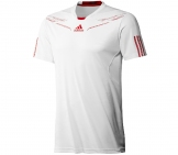 Adidas - Men Barricade Crew Tee white - HW12 Men tennis apparel