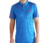 Adidas - Men Barricade Traditional Polo blau - Herren Tennisbekleidung