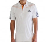 Adidas - Men Barricade Traditional Polo - white Men tennis apparel