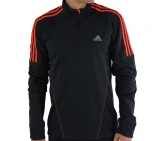 Adidas - Response L/S Fleece 1/2 Zip Tee gray - Men running apparel