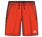 Adidas - Sequentials Bermuda Boys red - SS12 kids tennis apparel