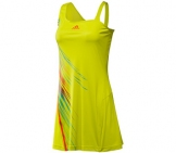 Adidas - Ana Ivanovic US Open Adizero Dress lime - Damen Tennisbekleidung