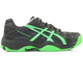 Asics - Gel Resolution OC GS Junior black/green - kids tennis shoe
