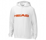 Head - Club Men Hoody white/orange Men tennis apparel
