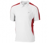 Head - Club Men Polo White/red Men tennis apparel