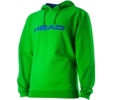 Head - Hoody Junior Byron - lime/blue kids tennis apparel