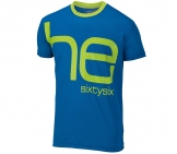 Head - Noah Roundneck Shirt Kids blue/lime kids tennis apparel