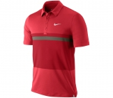 Nike - Match Stripe UV Polo red - SP12 Men tennis apparel