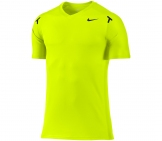 Nike - Rafa Power Court Crew Shirt yellow (US Men tennis apparel
