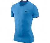 Nike - Roger Federer Hard Court Crew Shirt blau - Men tennis apparel