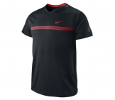 Nike- Roger Federer Smash Top black/red - SP12 Men tennis apparel