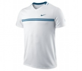 Nike- Roger Federer Smash Top white/blue - SP12 Men tennis apparel