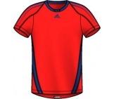 Adidas - Boys Response Tee - red HW12 kids tennis apparel
