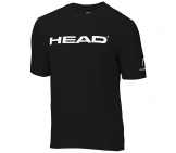 Head - Branding Shirt Kids - black kids tennis apparel