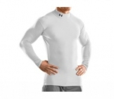 Under Armour - Coldgear Compression Mock white Men tennis apparel