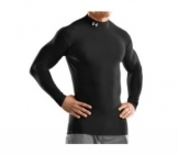 Under Armour - Coldgear Compression Mock black Men tennis apparel