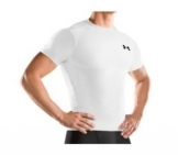Under Armour - Heatgear Full Shirt white Men tennis apparel