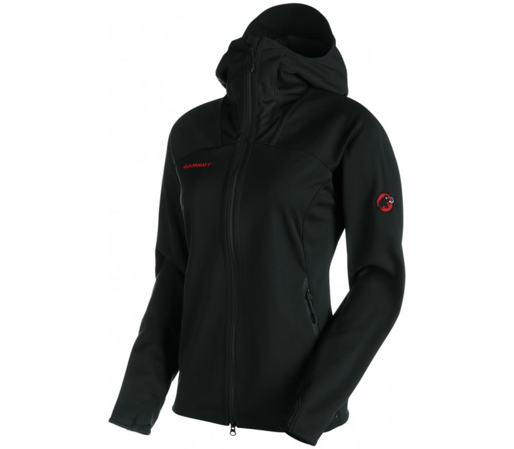 mammut ultimate hoodie damen softshelljacke schwarz im. Black Bedroom Furniture Sets. Home Design Ideas