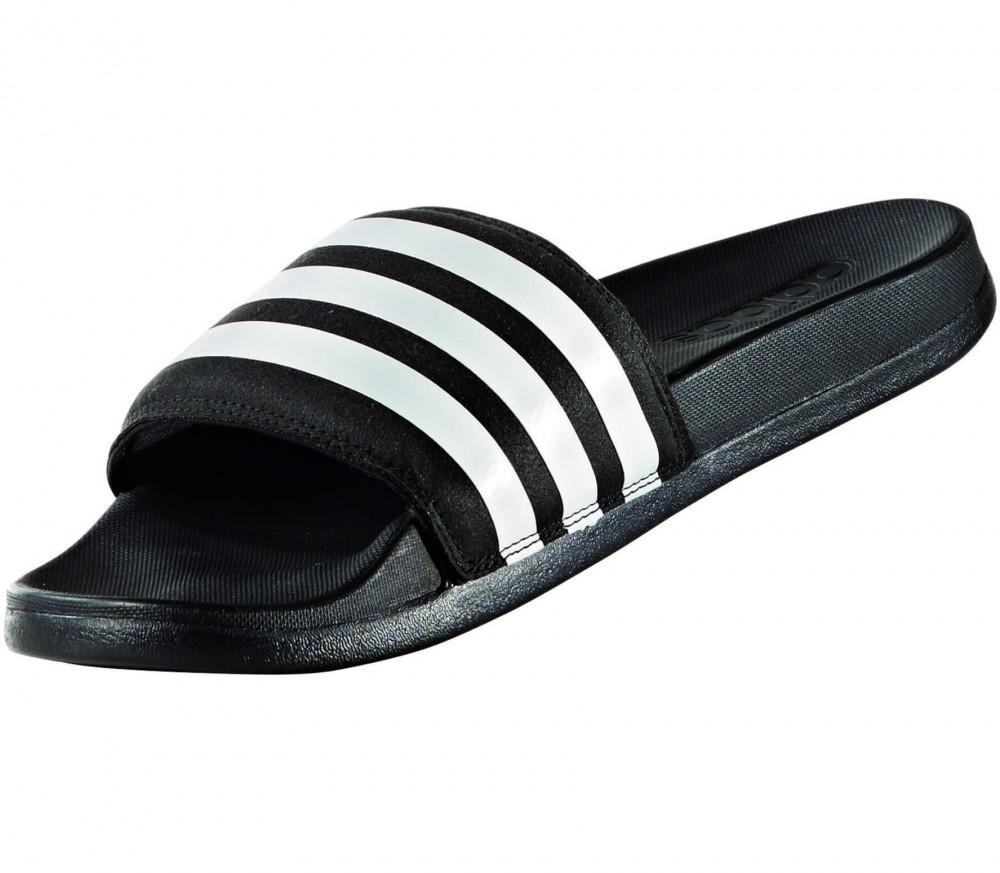 adidas adilette cf ultra stripes damen badeschlappe schwarz wei im online shop von keller. Black Bedroom Furniture Sets. Home Design Ideas
