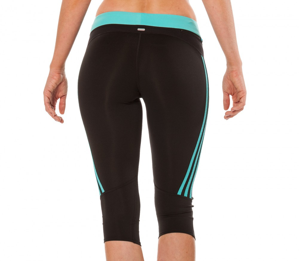 adidas response 3 4 tights damen laufhose schwarz mint. Black Bedroom Furniture Sets. Home Design Ideas