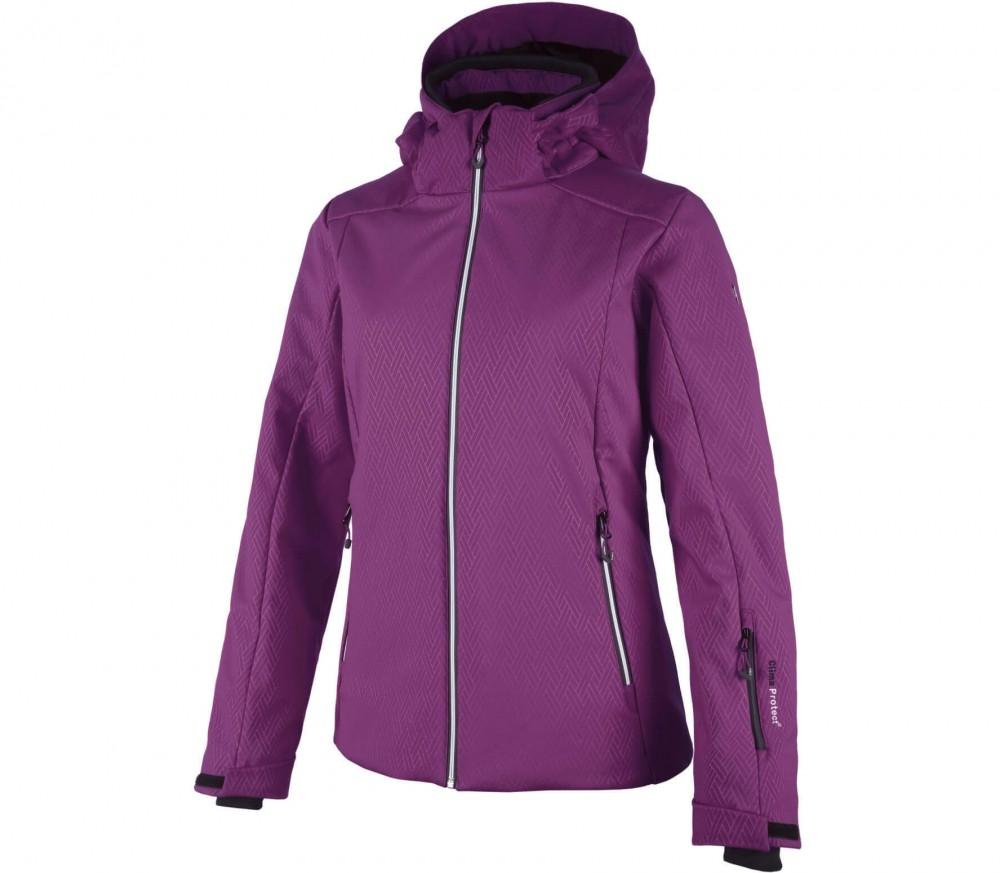 cmp softshell zip hood damen skijacke lila im online shop von keller sports kaufen. Black Bedroom Furniture Sets. Home Design Ideas