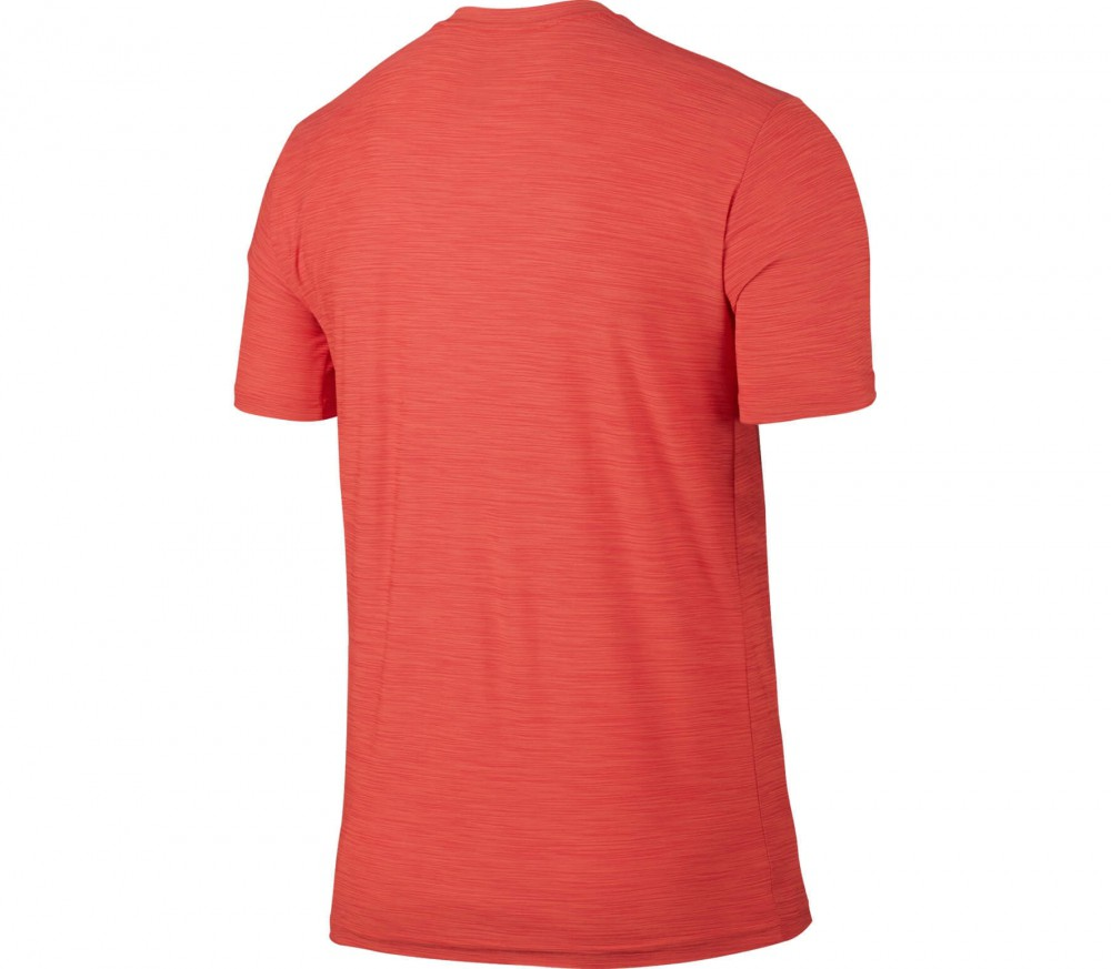 Nike - Breathe Dry Shortsleeve Herren Trainingstop (orange/schwarz)