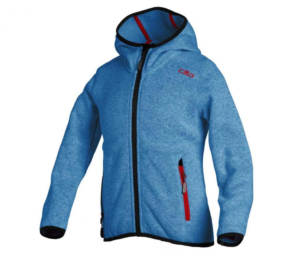 cmp knitted fix hood damen fleecejacke blau schwarz im online shop von keller sports kaufen. Black Bedroom Furniture Sets. Home Design Ideas