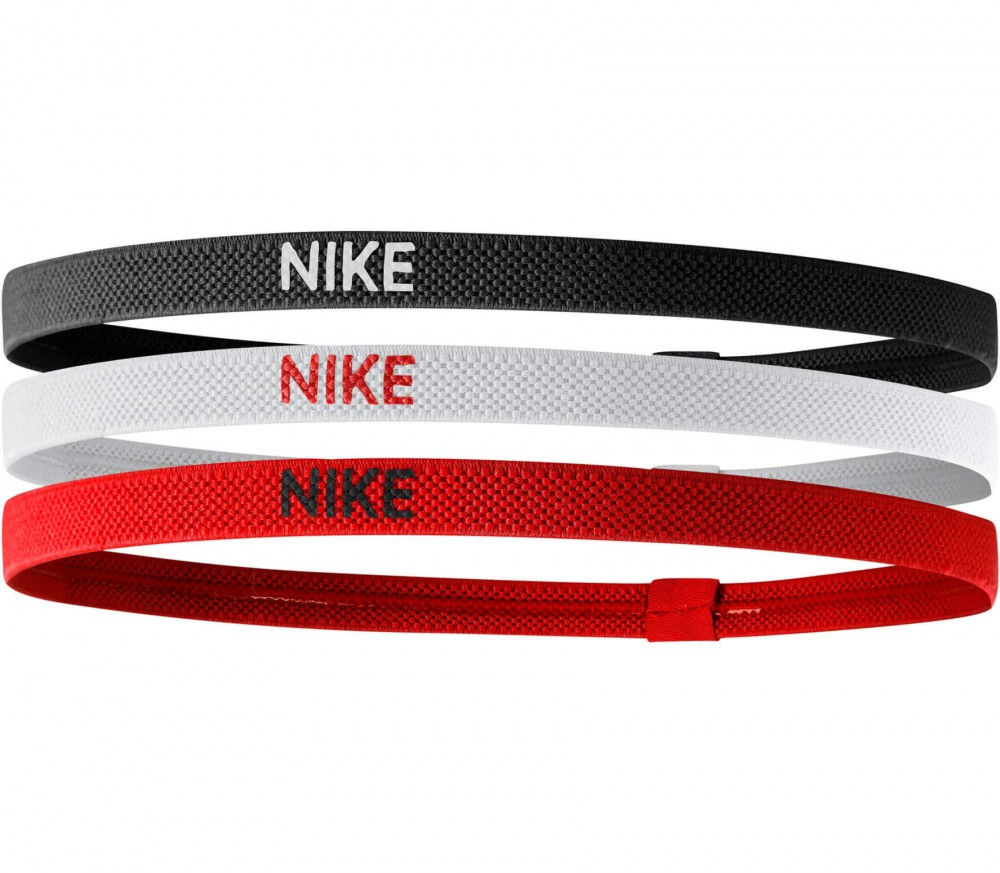 Nike - Elastic Hairbands 3er Pack (rot/schwarz)