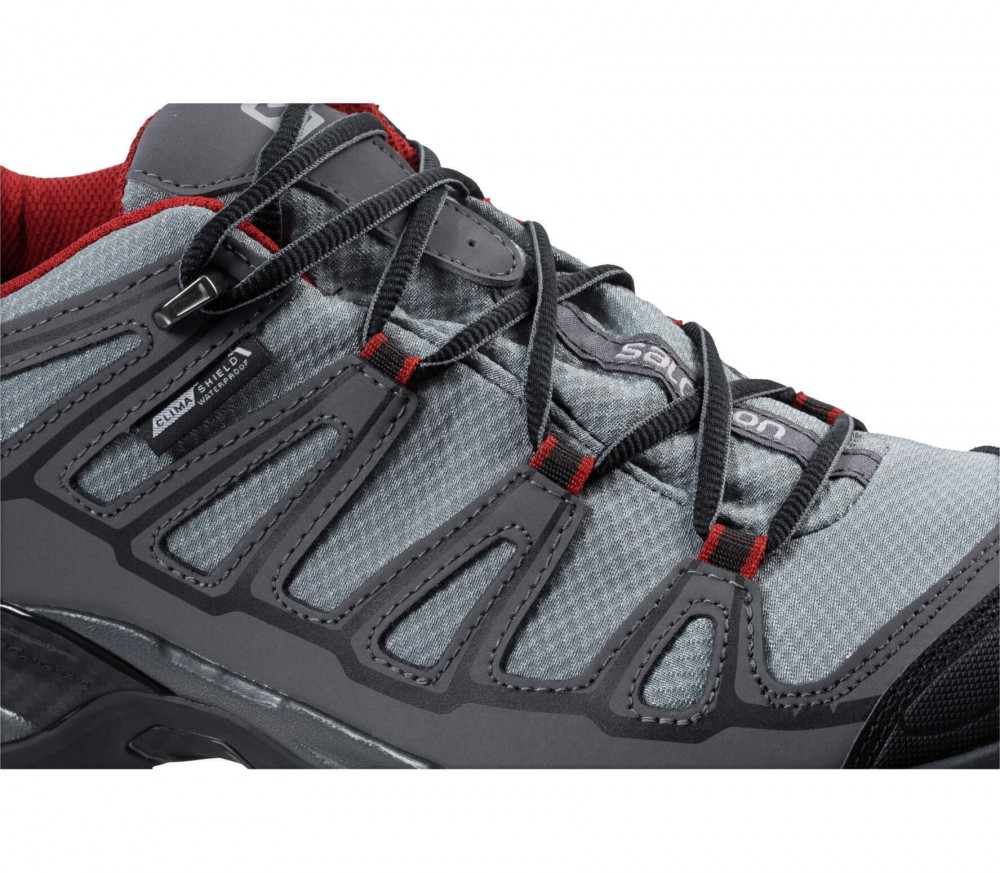 Salomon - X Ultra Prime CS WP Herren Hikingschuh (grau/rot)