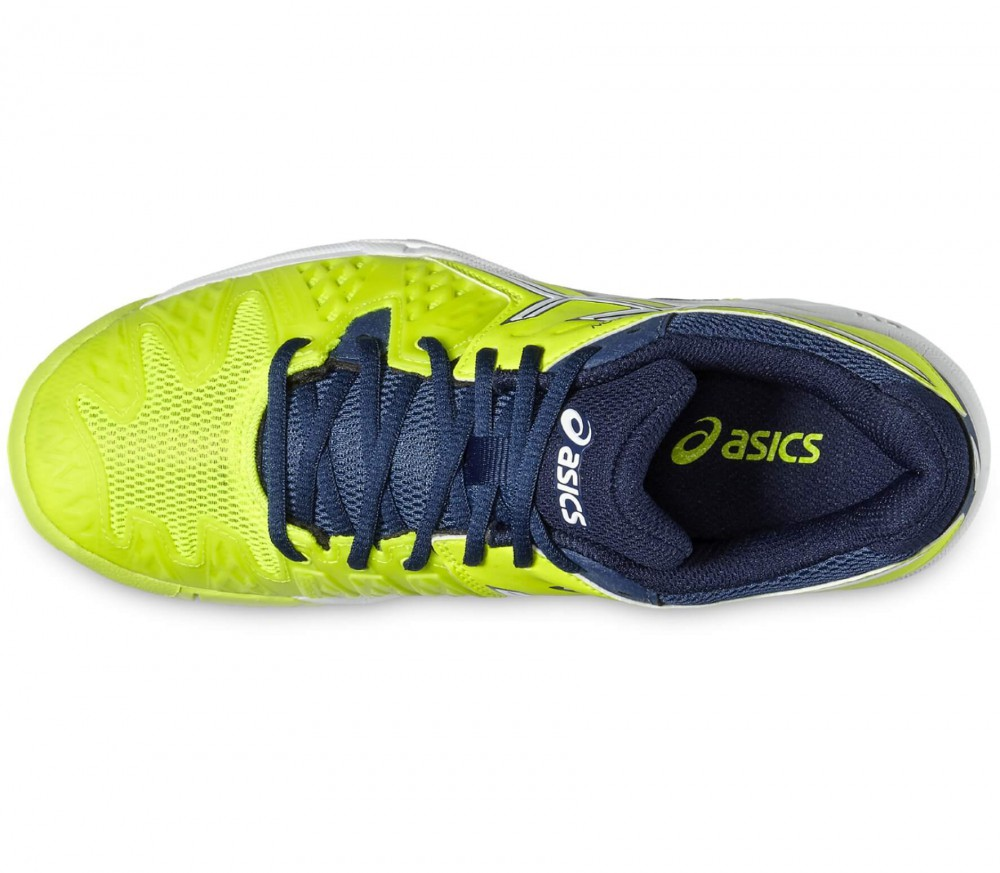 Asics - Gel-Resolution 6 GS Junior Tennisschuh (gelb/grau)