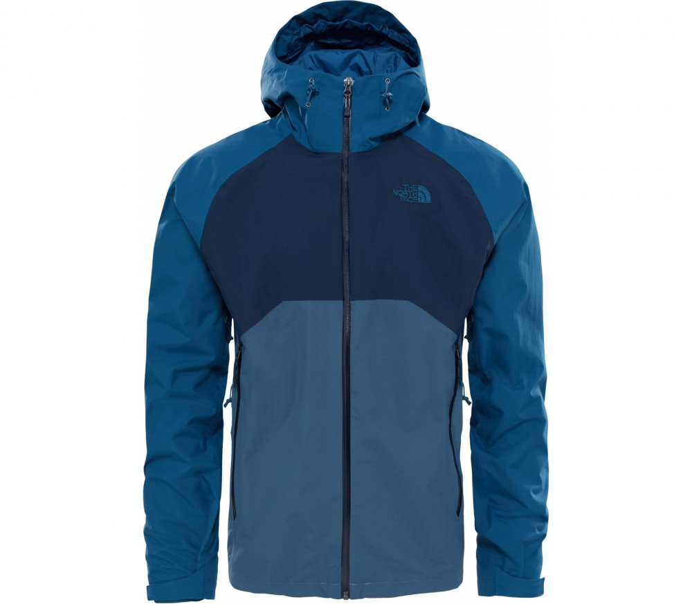 the north face stratos herren regenjacke blau im online shop von keller sports kaufen. Black Bedroom Furniture Sets. Home Design Ideas