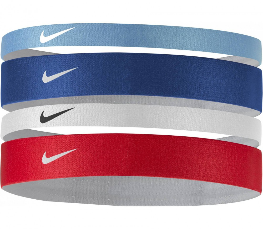 Nike - Printed Headbands Assorted 4er Pack (blau/rot)