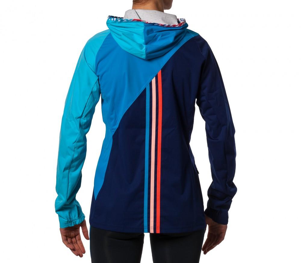 adidas aktiv hooded jacket damen dunkelblau blau im online shop von keller sports kaufen. Black Bedroom Furniture Sets. Home Design Ideas