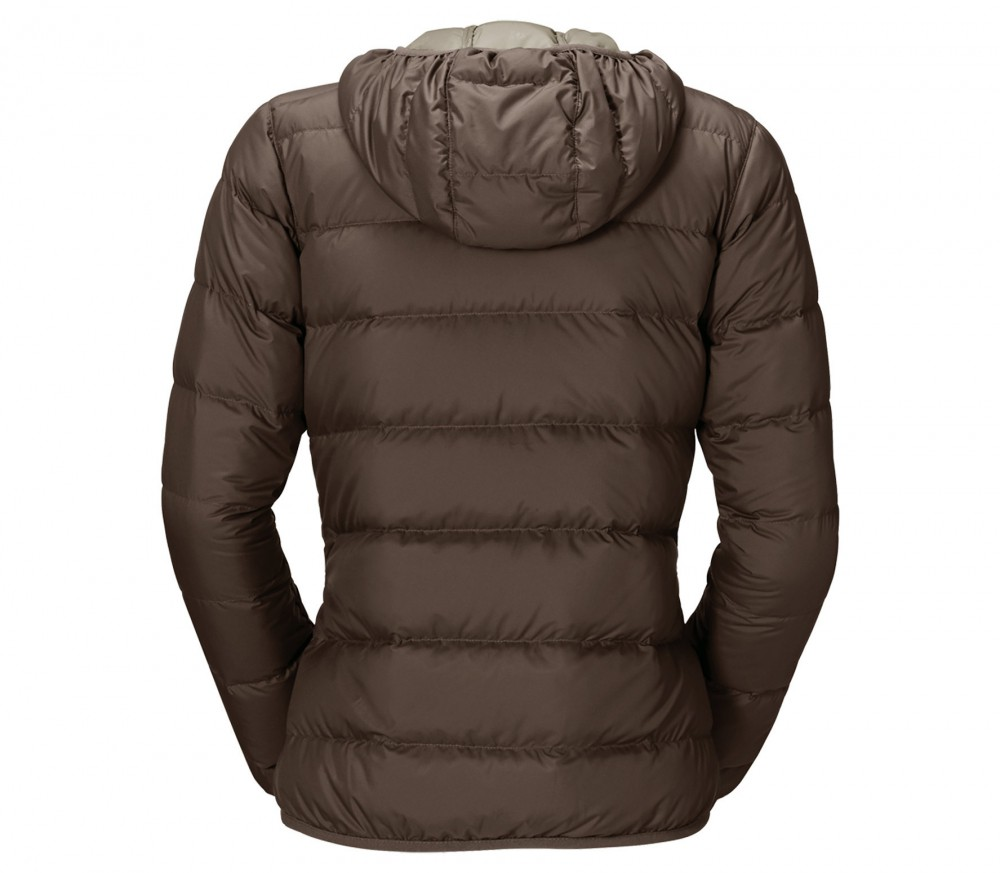 jack wolfskin helium damen daunenjacke braun im online shop von keller sports kaufen. Black Bedroom Furniture Sets. Home Design Ideas