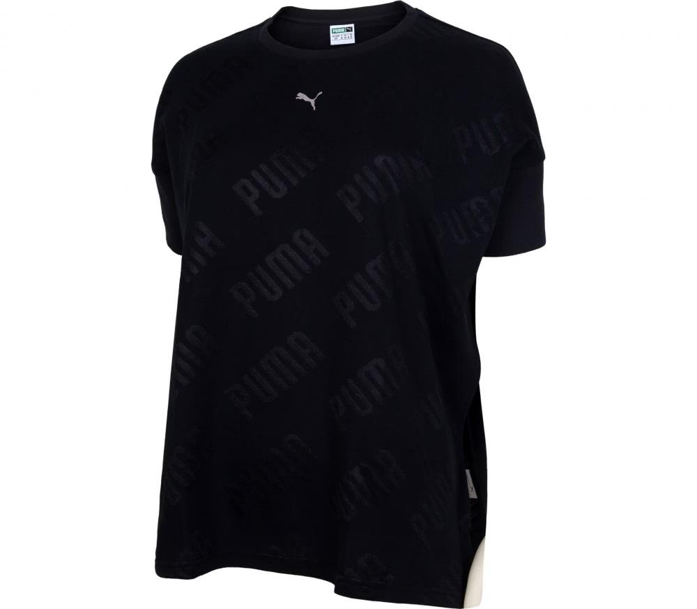 puma en pointe crop top damen trainingsshirt schwarz. Black Bedroom Furniture Sets. Home Design Ideas