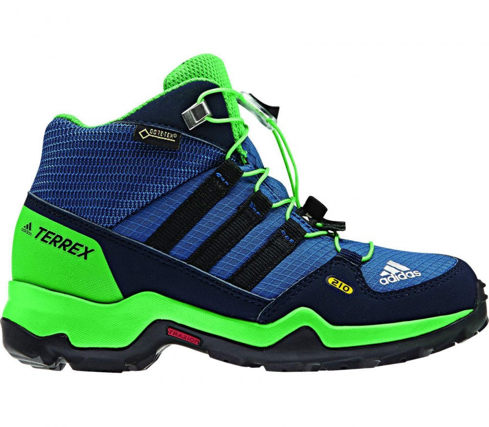 adidas terrex mid gtx junior hikingschuh blau gr n im. Black Bedroom Furniture Sets. Home Design Ideas